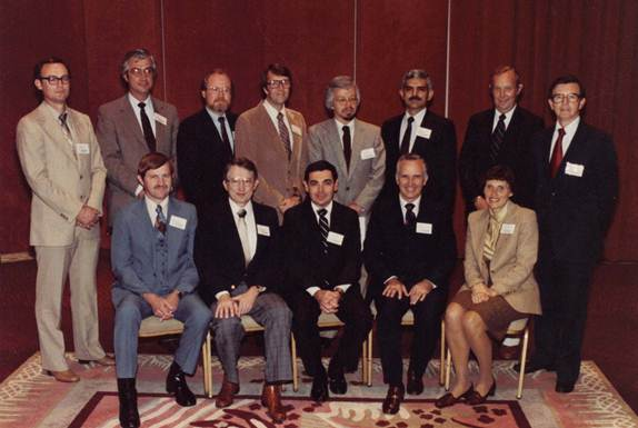 1982-83 SMA Board and Officers Front Row, L-R:  David D. Van Fleet, Robert L. Trewatha, Arthur G. Bedeian, Dennis F. Ray, Sally A. Coltrin Back Row, L-R:  William H. Holley, B. Wayne Kemp, H. Kirk Downey, Donald D. White, W. Jack Duncan, Achilles A. Armenakis, Walter B. Newson, Richard E. Dutton Not pictured:  T.W. Bonham, Terry L. Leap, W. Alan Randolph
