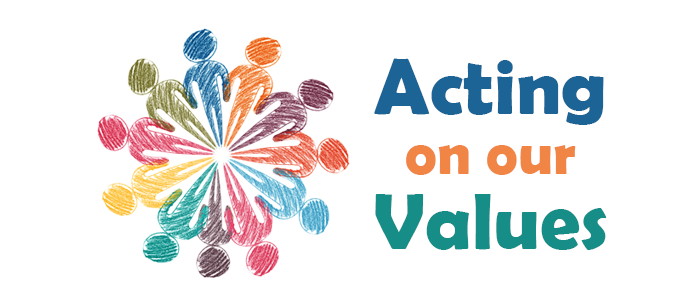 Logo for Acting on our Values